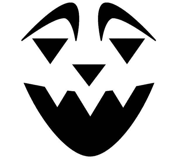 Pumpkin Head Stencils Pumpkin Head Stencil