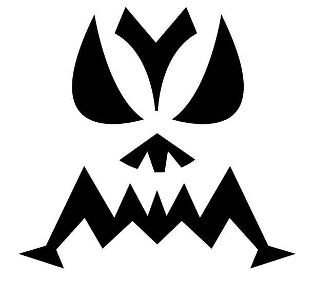 Halloween Jack O Lantern Pumpkin Head Stencils - Home Life ...