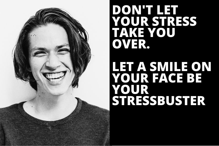 Stress relief quote don't let your stress take you over