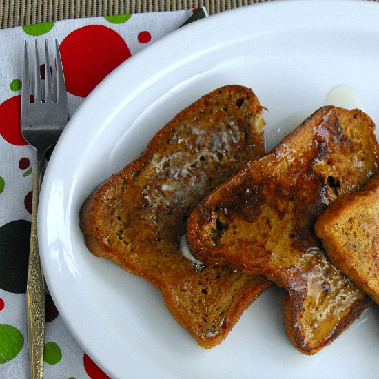 Vegetarian Gingerbread French toast with Molasses