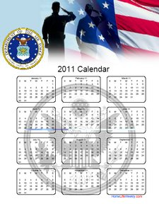 Air Force Calendar 2011