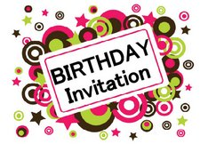 birthday invitation printable circles design
