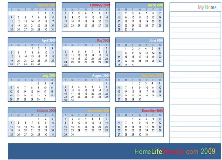 year printable a full year calendar printable on a single sheet with a ...