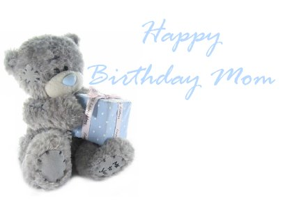Moms Birthday Card Wirth Cute Bear