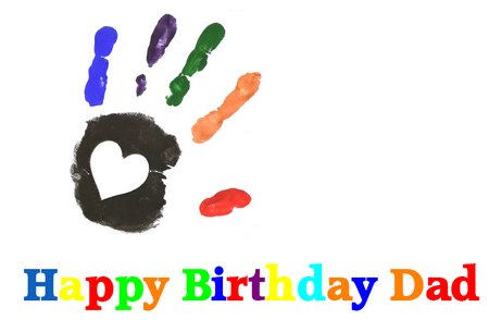 Dad Birthday Hand Print Card