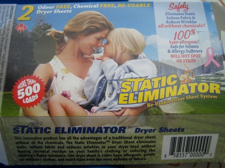 staic cling dryer sheet