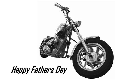 Fathers Day Card Motor Bike design