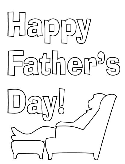 fathers day card coloring pages - photo#1