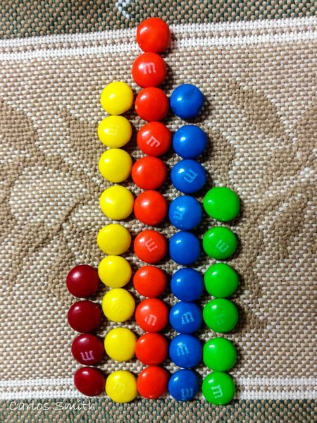Graph made with M & M's