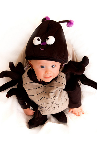 Cute Halloween spider costume for baby