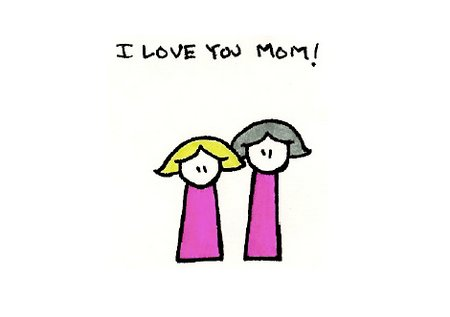 I loveyou mom mothers day card