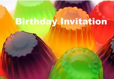Jelly Birthday invitations cards