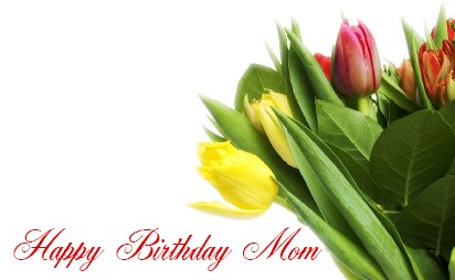 Mom Birthday Card Tulip
