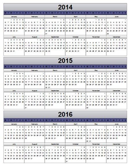 2016 Computer Strip Calender | Calendar Template 2016