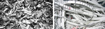Paper Shredder Examples of Cross Cut and Strip Cut