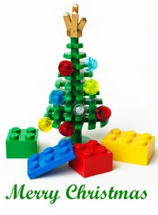 Lego Christmas Tree Christmas Card