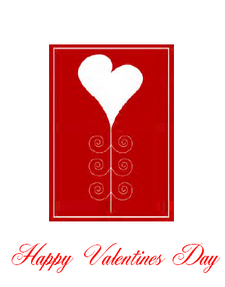 Free Valentines Card with Heart