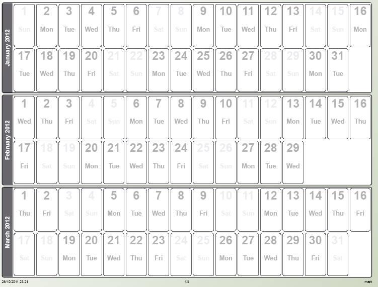 Quarterly Calendars To Print Calendar Template 2016 . Quarterly Calender