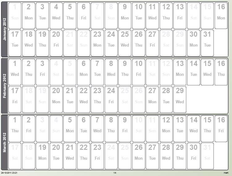 quarter plan calendar template Success