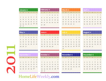 Printable Calendar 2011 Free Printable and Colorful