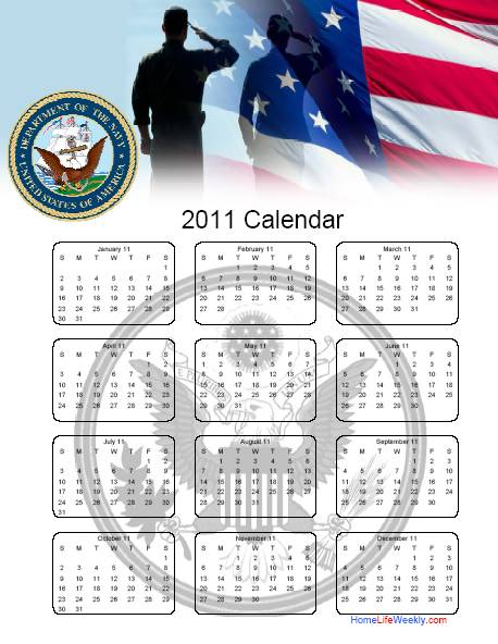 US Navy Calendar 2011 Download